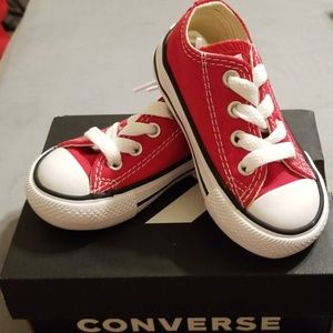 Unisex infant Chuck Taylor's in red!